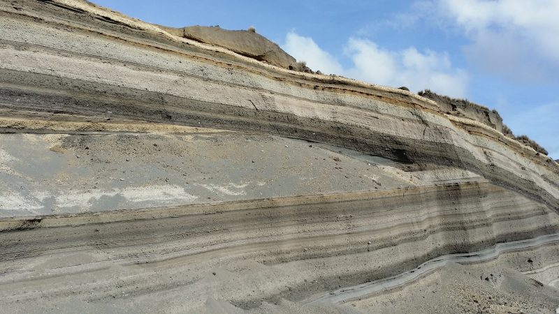 Layers of sediments