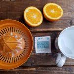 Oolong tea orange juice drink