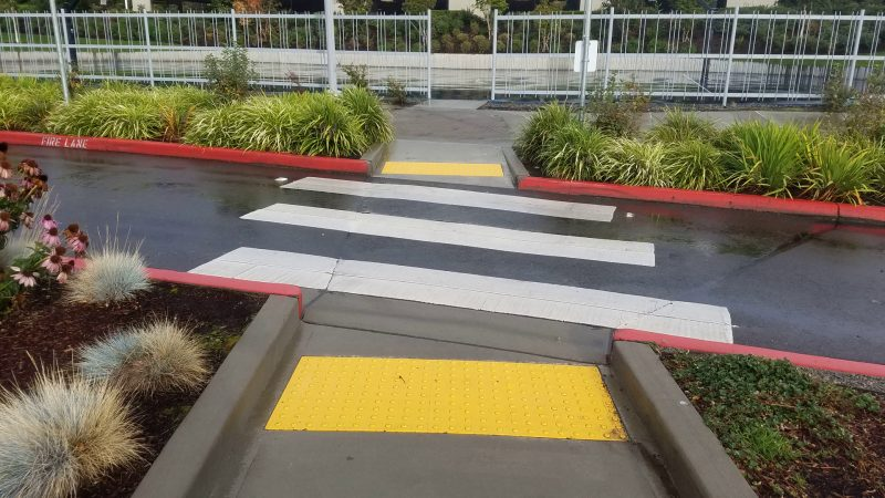 slippery pavement