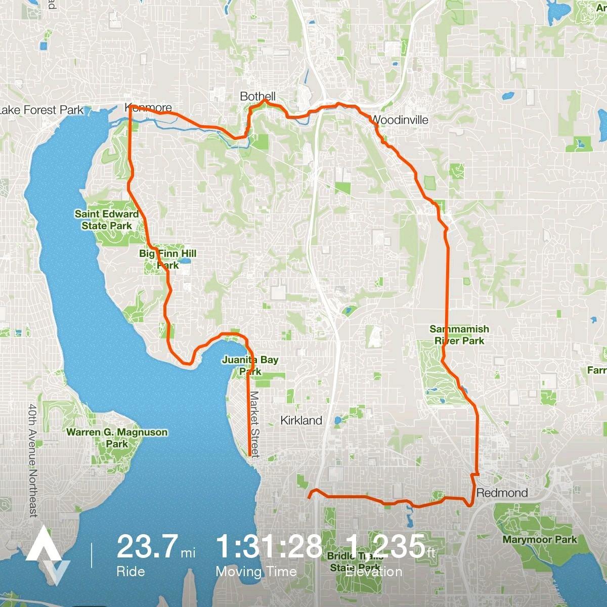 Bike ride, 24 miles