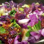 Red cabbage stir-fry