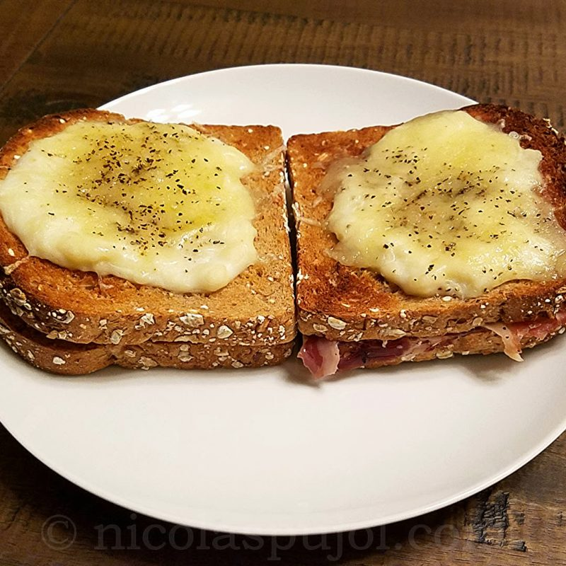 Easy to make croque-monsieur