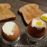French style soft-boiled eggs on the shell