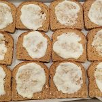 Put bechamel sauce on all 12 bread slices