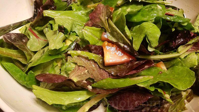 Simple lettuce tomato and avocado salad