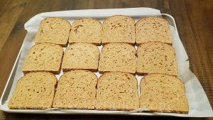 Whole grain sandwich bread slices for croque-monsieur