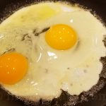 Fry an egg for each croque monsieur