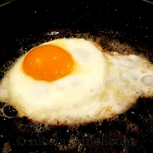fried egg for natto noodles