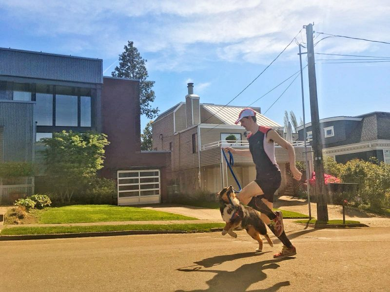 Running hill repeats with my dog Mocha. Photo credit: Marc Pujol