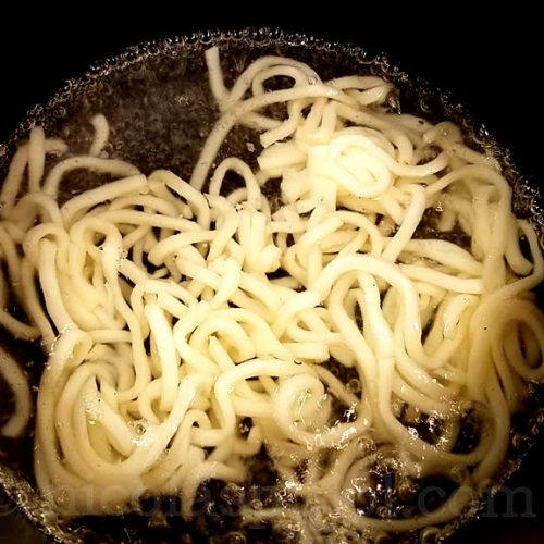 japanese udon noodles for natto dish