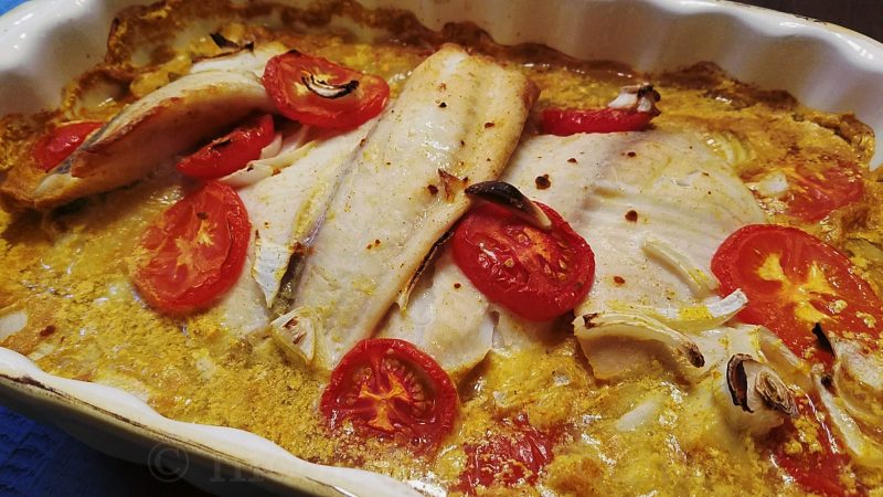 Tilapia fish baked in the oven