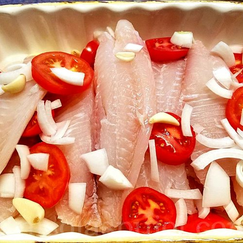 Tilapia for baking in the oven