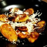 Fried plantains appetizer dish
