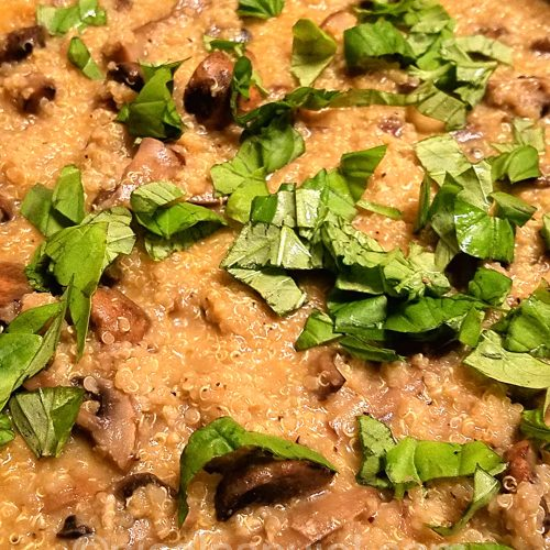 Delicious vegan quionasotto