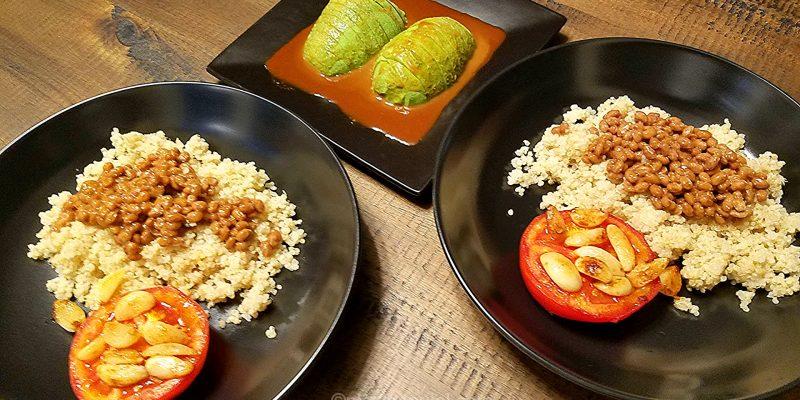 Natto quinoa in wasabi sauce