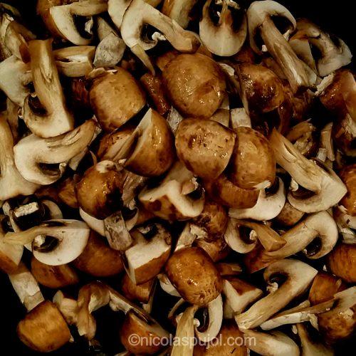 fry mushrooms for quinoasotto