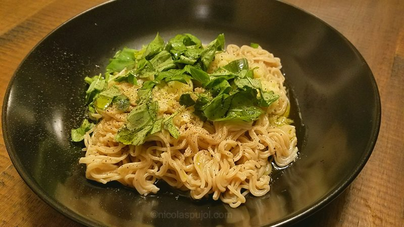 Italian style gluten-free vegan noodles with basil