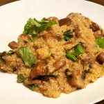 quinoasotto with coconut milk and mushrooms
