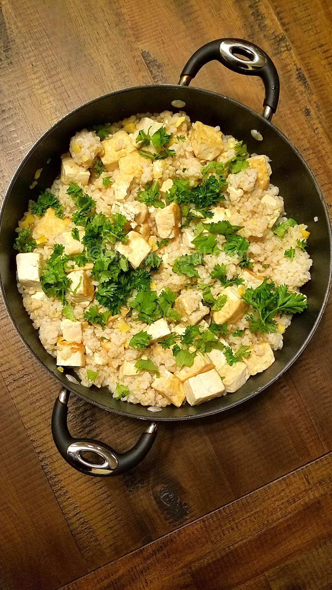 Tofu fried rice in Vietnamese sauce