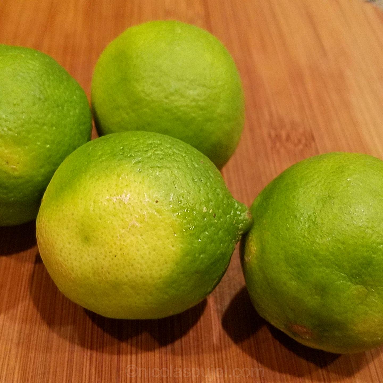 Fresh limes for Vietnamese fried rice