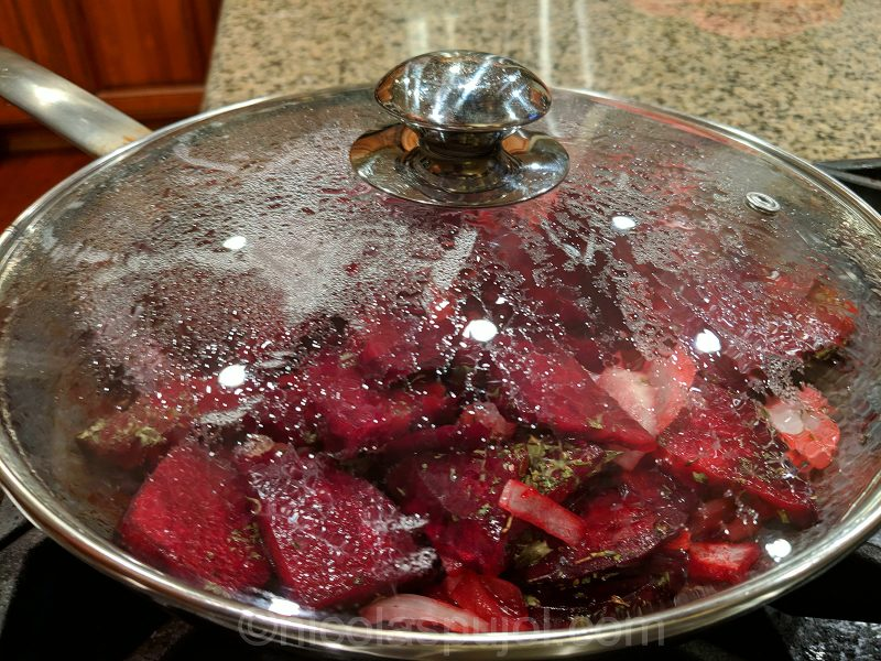 cover beets with a lid
