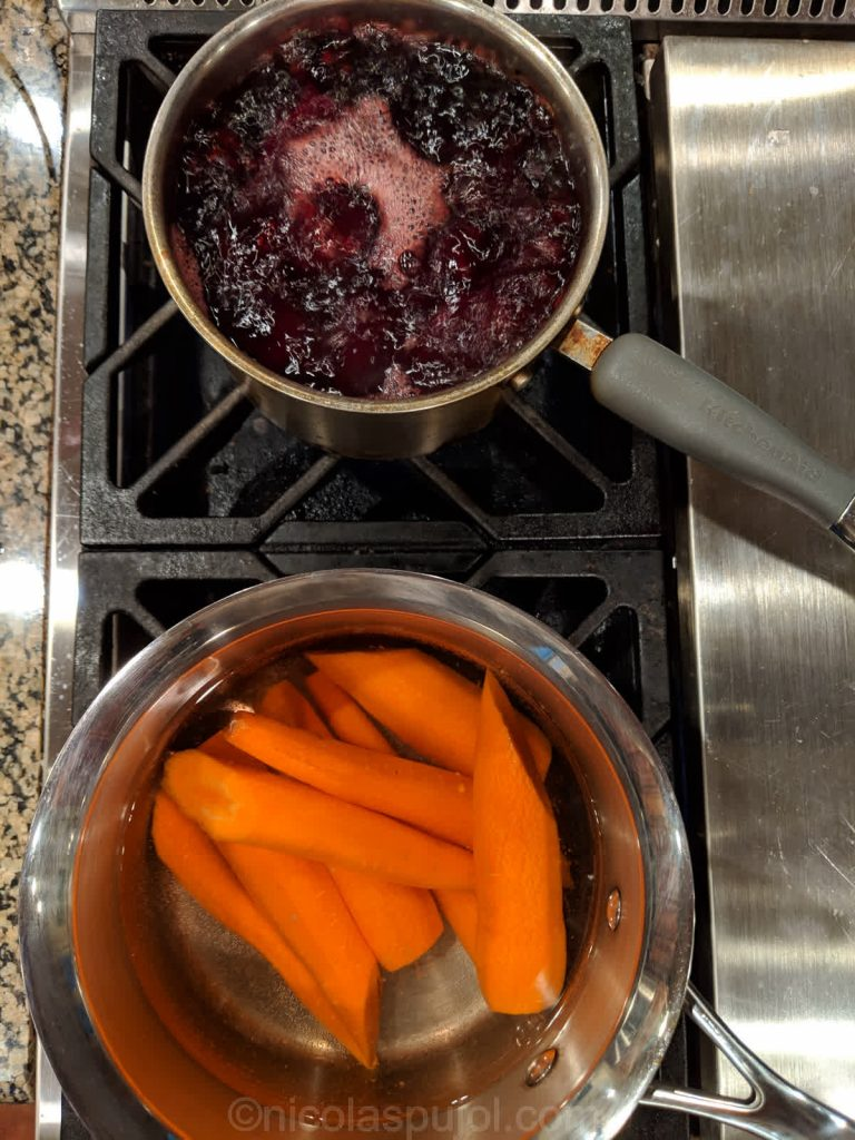 Boil carrots and beets separately