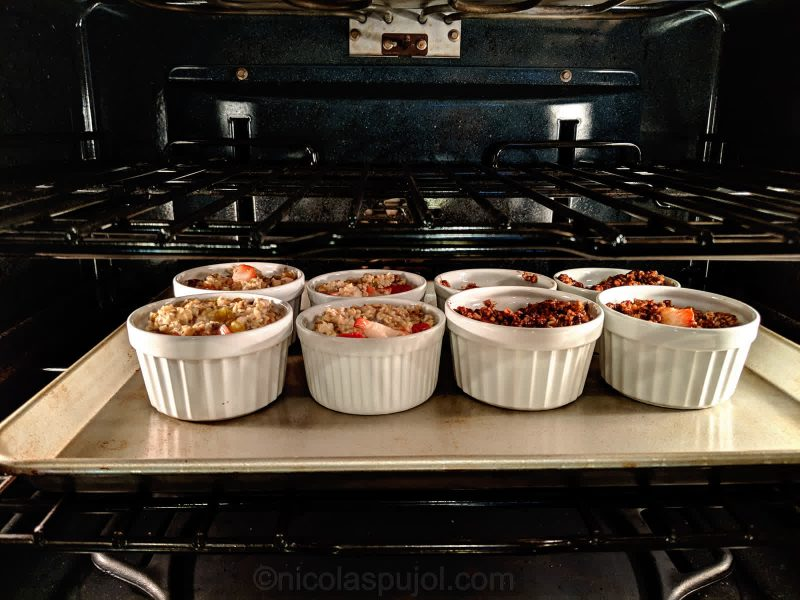Chia seeds oatmeal cakes in the oven