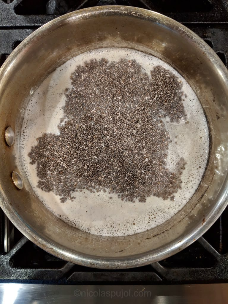 Cook steel cut oats with chia seeds