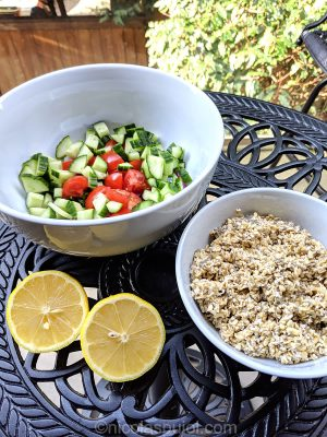 Gluten-free oats tabouli ingredients