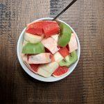 Grapefruit (with skin) kiwi and banana fruit salad recipe