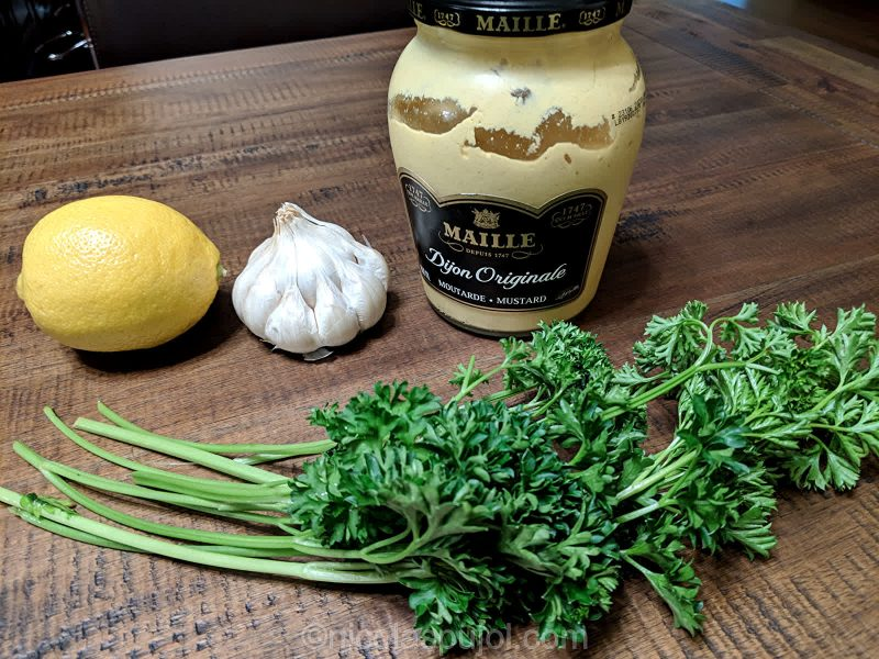 Oil-free French lemon dressing ingredients