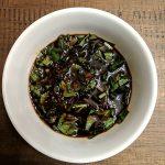 Oil-free spicy balsamic vinegar basil dressing