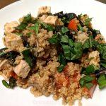 Plant-based tofu quinoa meal