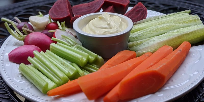 Vegan grand aioli recipe with crudites