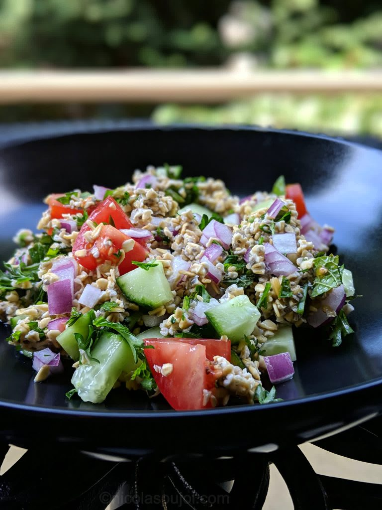WFPBNO tabouli salad recipe