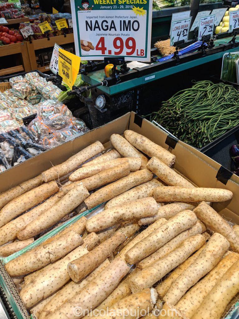 Nagaimo yam potatoes at Uwajimaya store