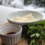 Preparing the nagaimo spicy appetizer recipe