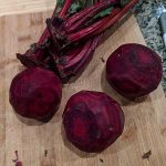 Separating beet roots from greens