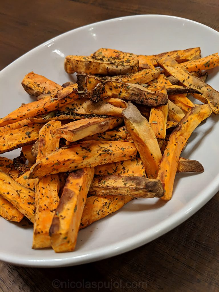Sweet potato fries without oil or salt