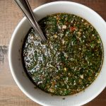 Chimichurri sauce without oil or salt