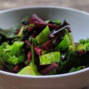 Broccoli and chard with balsamic vinegar