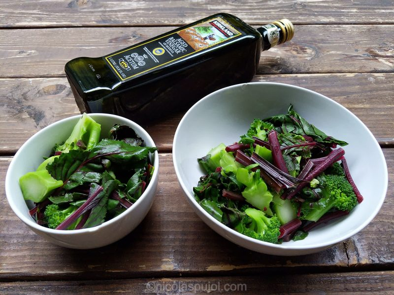 Broccoli and chard salad with balsamic vinegar ingredients