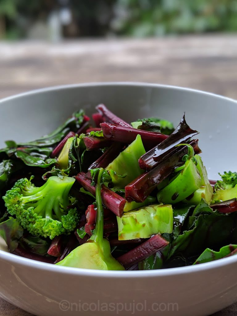 Chard broccoli with balsamic vinegar