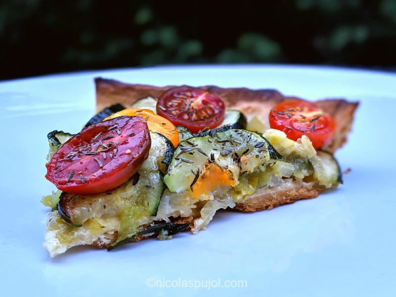 Easy leek and zucchini tart recipe