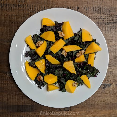 Kale and mango salad for FMD