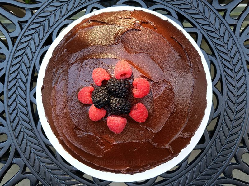 Simple plant-based chocolate cake
