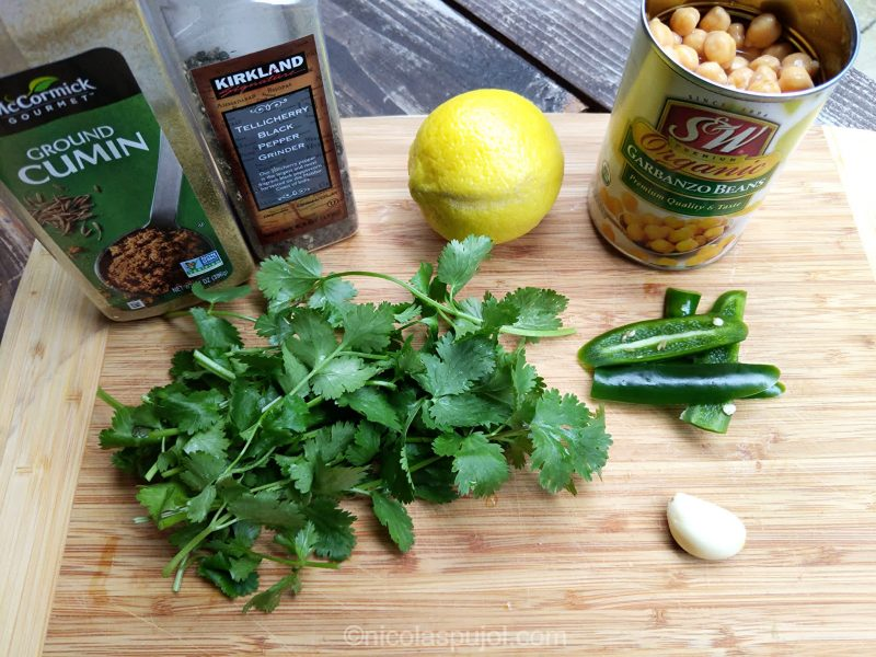 Oil-free hummus ingredients