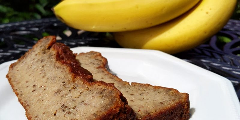 Banana bread gluten-free and egg-free using chia seeds
