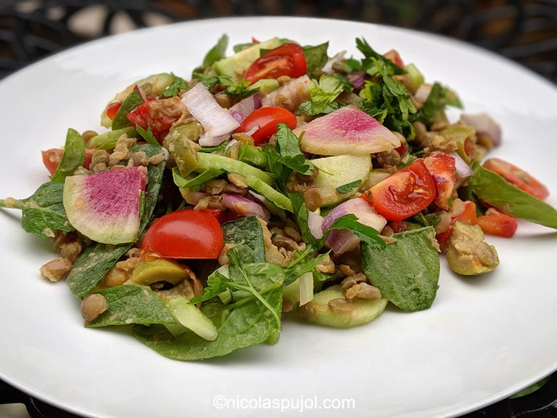 Green lentil salad recipe