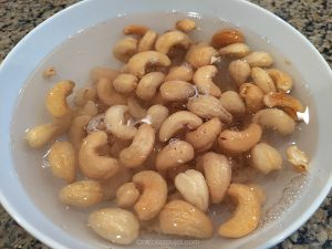 Soak the cashews